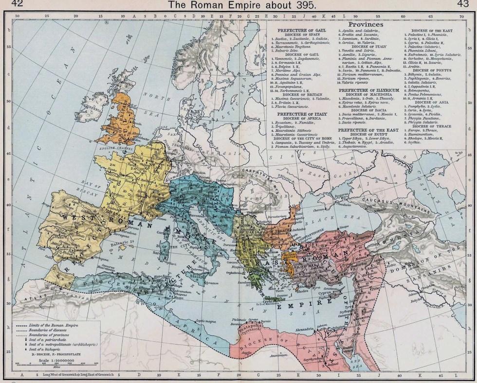 Imperio romano en el año 395