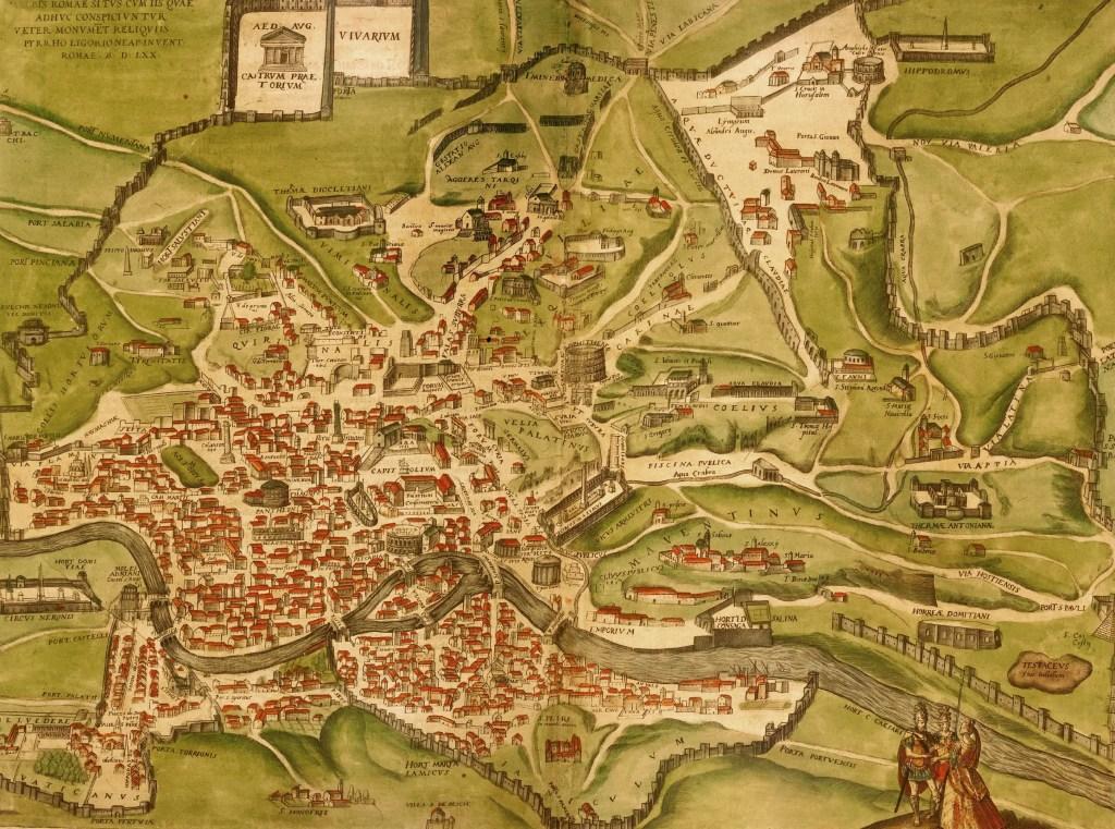 Mapa de la Roma antigua Pirro Ligorio,