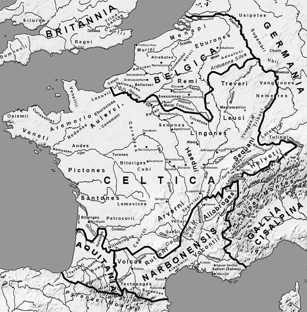 Mapa de las Galias.