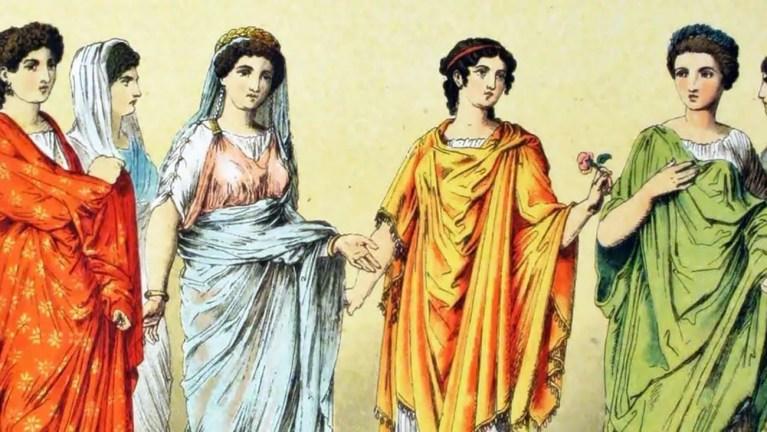 La mujer romana y su vestimenta.