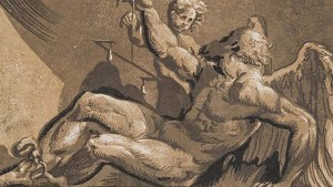 Pintura del dios grecorromano Saturno.