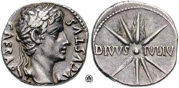 Moneda conmemorativa del cometa de Julio César.