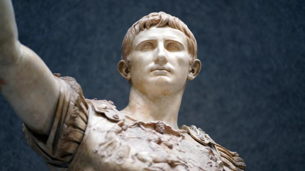 Estatua de Augusto hallada en Prima Porta. Siglo I d. C.