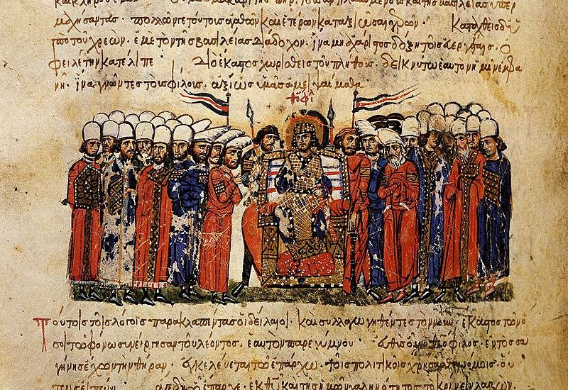 800px-Emperor_Theophilos_and_his_court,_Skylitzes_Chronicle