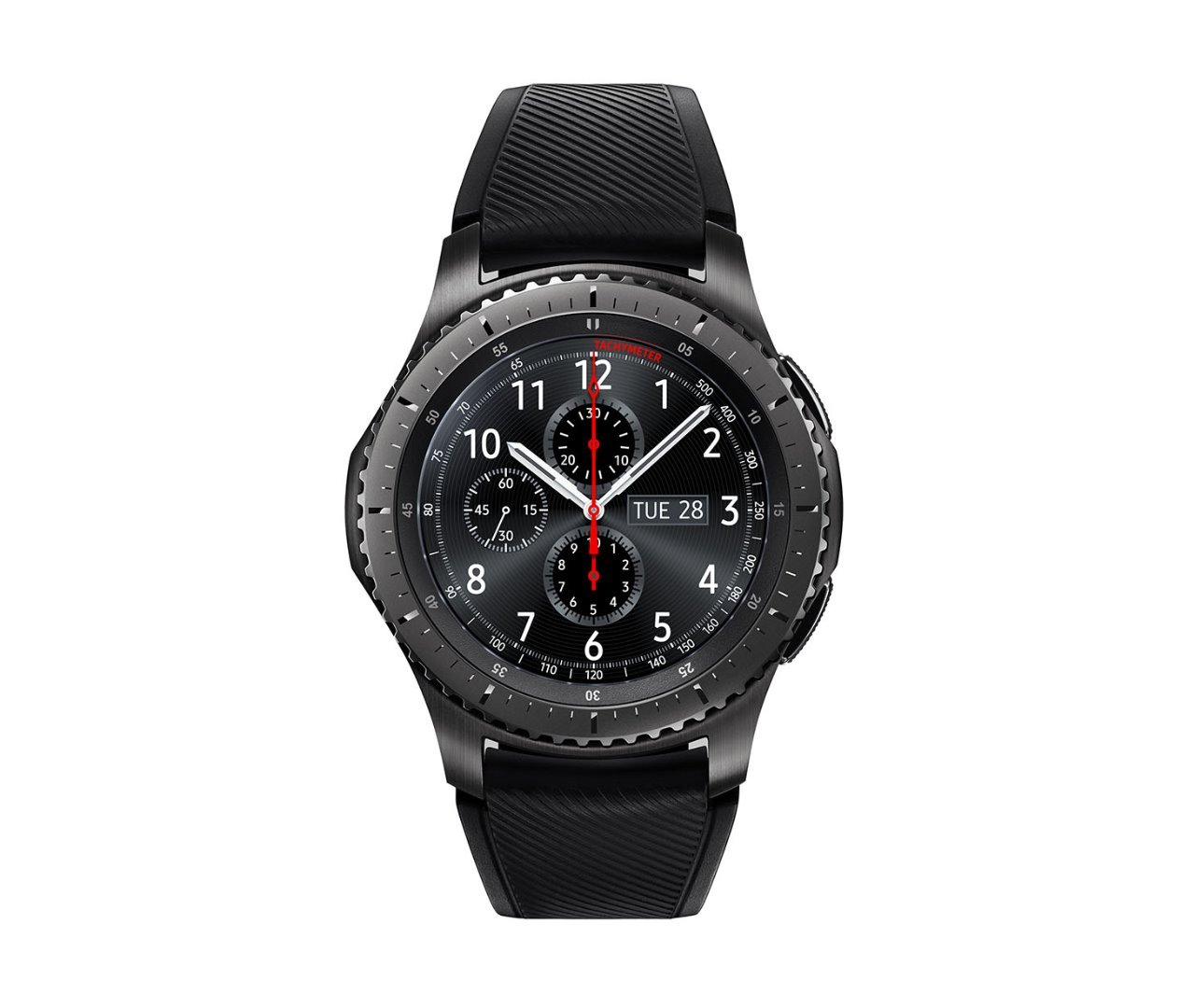 Samsung Gear S3 Frontier Smartwatch, GPS, IP68, Nero/Grigio [Versione Italiana]