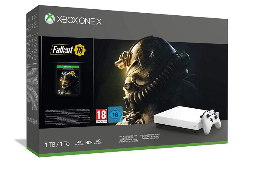 Xbox One X 1TB + Fallout 76 – Robotic White Edition