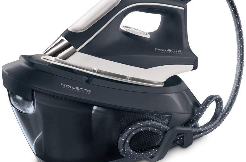 Rowenta VR8220 Powersteam Ferro da Stiro con Generatore di Vapore, 6.5 Bar, Struttura Compatta, 350 g/min, 2200 W, 1.5 Litri, Acciaio Inossidabile