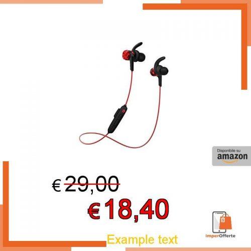 1MORE iBfree – Auricolari sportivi, wireless, Bluetooth 4.2, IPX6, impermeabile, telecomando in linea con microfono, per iPhone, dispositivi Android, E1018BT, rosso