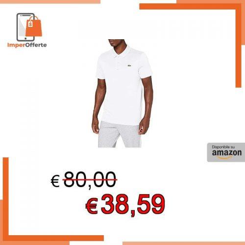 Lacoste DH2881 Polo, Blanc/Blanc, XL Uomo