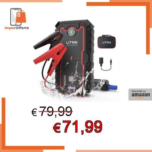 UTRAI Avviatore Batteria Auto 2000A 22000mah Avviatore Emergenza per Auto (per Motori)