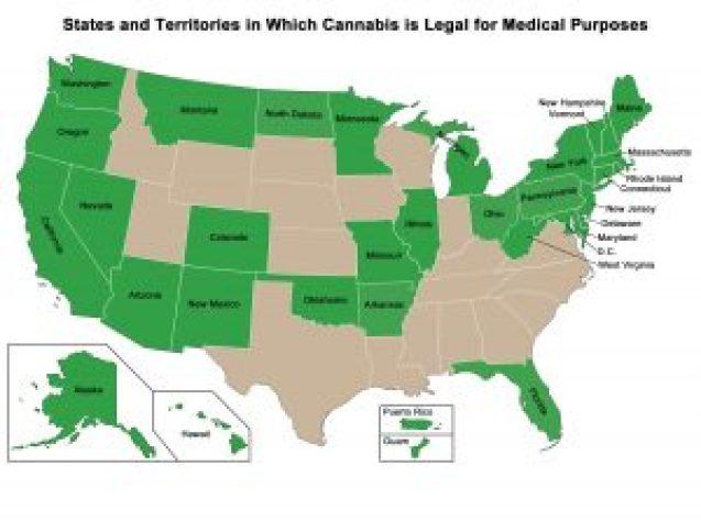 US states where medical marijuana is legall