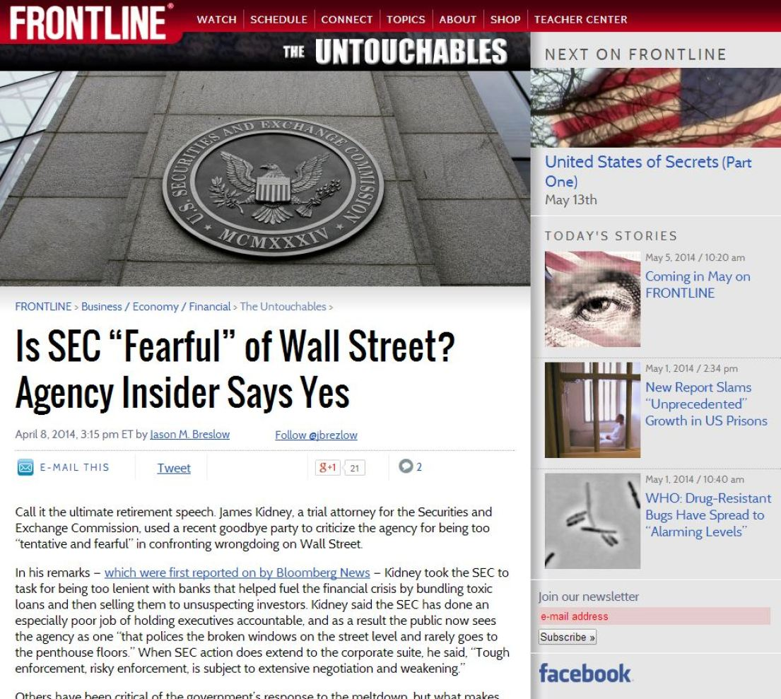"""""""Too big to fail"""" was a term coined by Wall Street apologists after the banking debacle of 2008."""