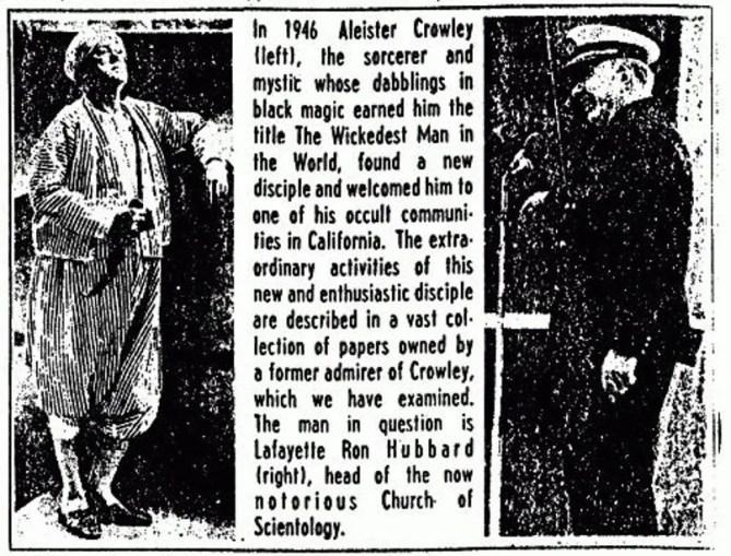 alester-crowley-and-L-Ron-Hubbard