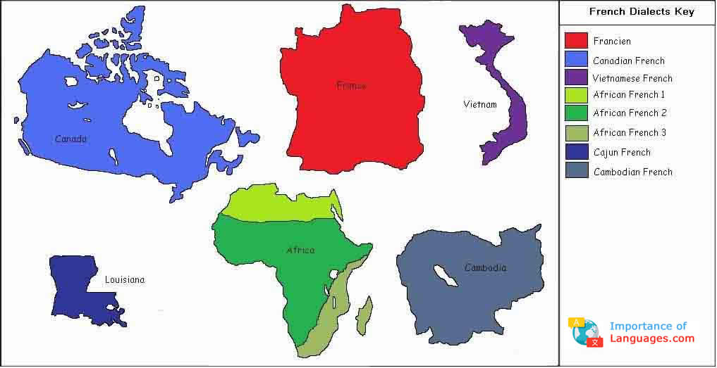 Map Of Africa French.Learn About The Different French Dialects Around The World