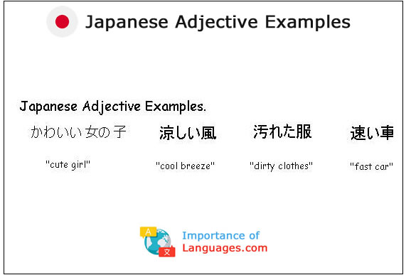Japanese Adjective Examples