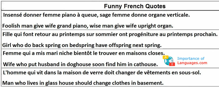 Funny Quotes in French