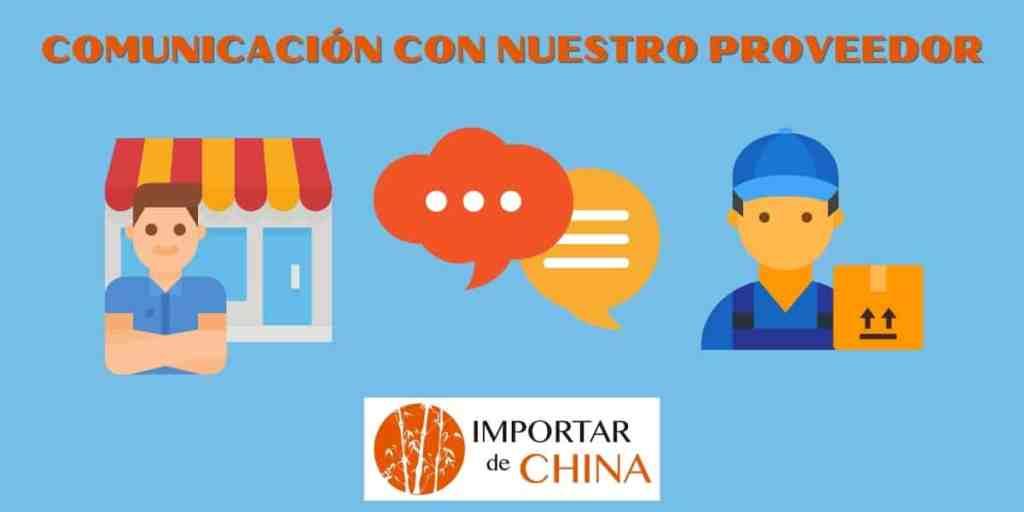 Comunicación con nuestro proveedor chino