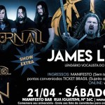 Noturnall e Alirio Netto anunciam data extra em SP com James Labrie no Manifesto Bar