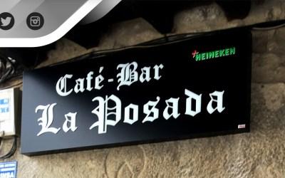 """Rótulo """"Cafe-Bar La Posada"""""""