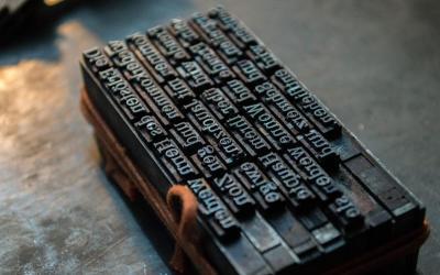 Trabajos con imprenta tradicional