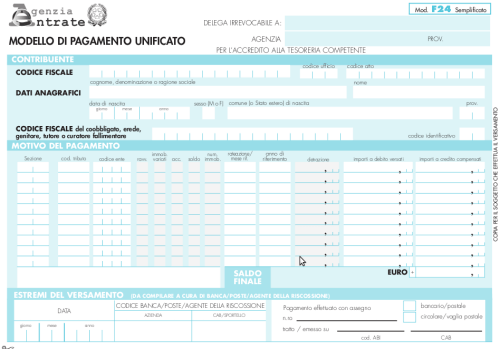 Pagare Limu Con Il Modello F24 Semplificato Consulenza
