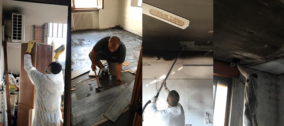 pulizia soffitto