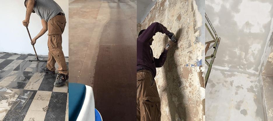 ripristino pavimenti - lavori muratura