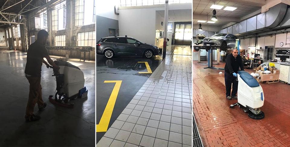 impresa pulizia auto officina