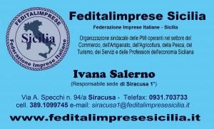 Feditalimprese Sicilia - sede Siracusa 1  BIGLIETTINO SALERNO