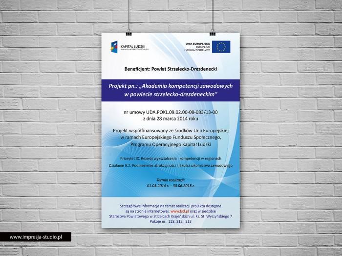 Plakat Akademia kompetencji zawodowych