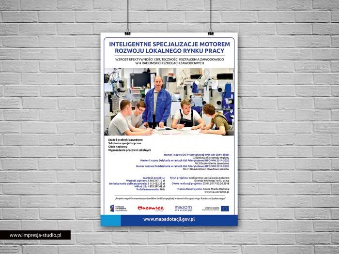 Plakat Fundusze Europejskie