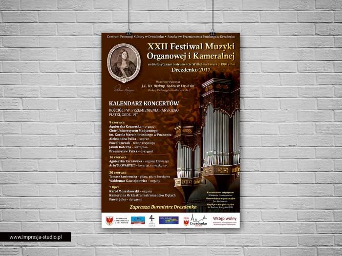 """Plakat """"XXII Festiwal Muzyki Organowej i Kameralnej"""""""