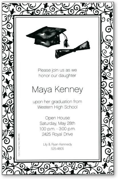 High School Graduation Invitations 2017