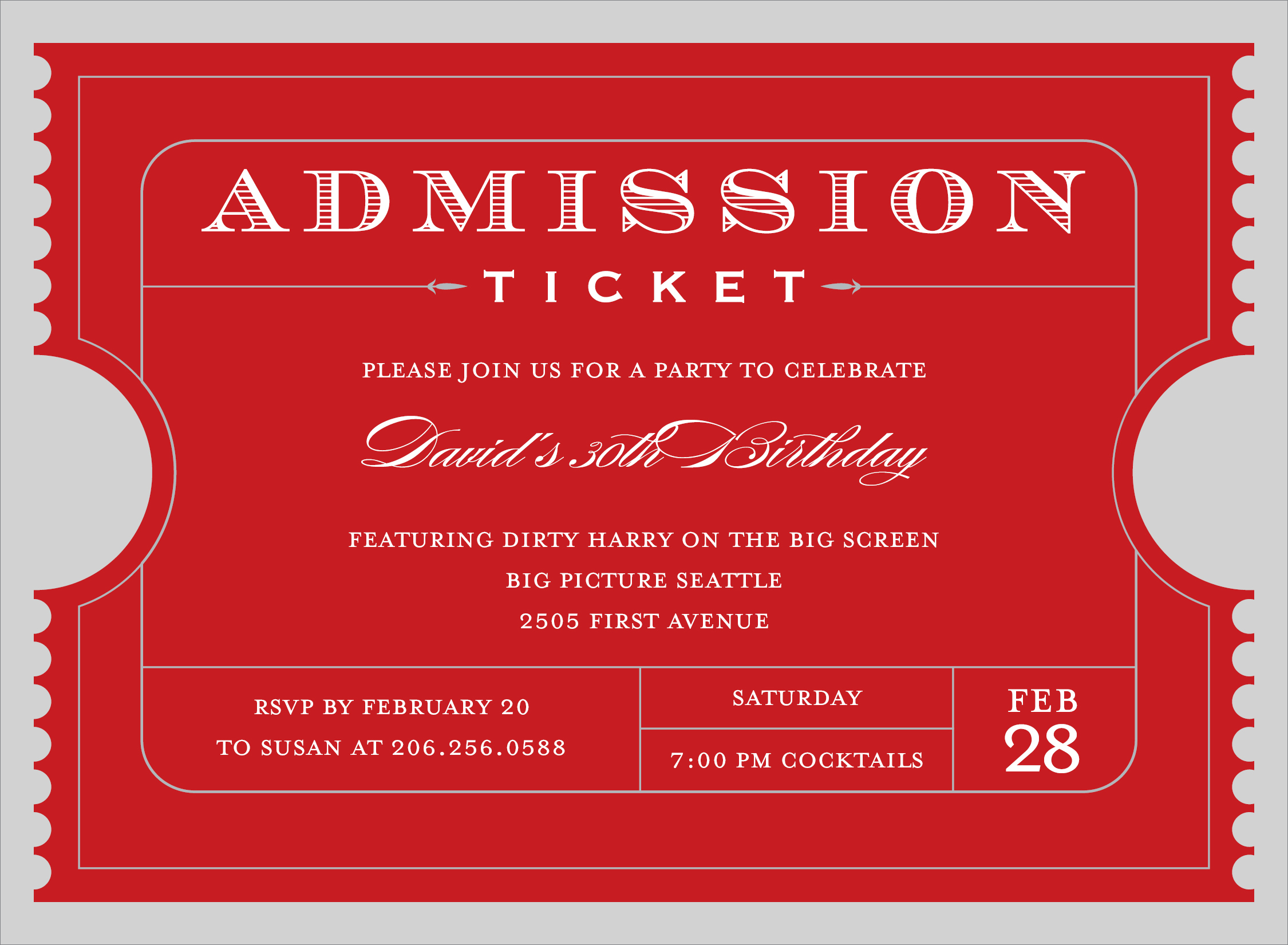 Dinner Tickets Template. free meal. sample event admission for ...