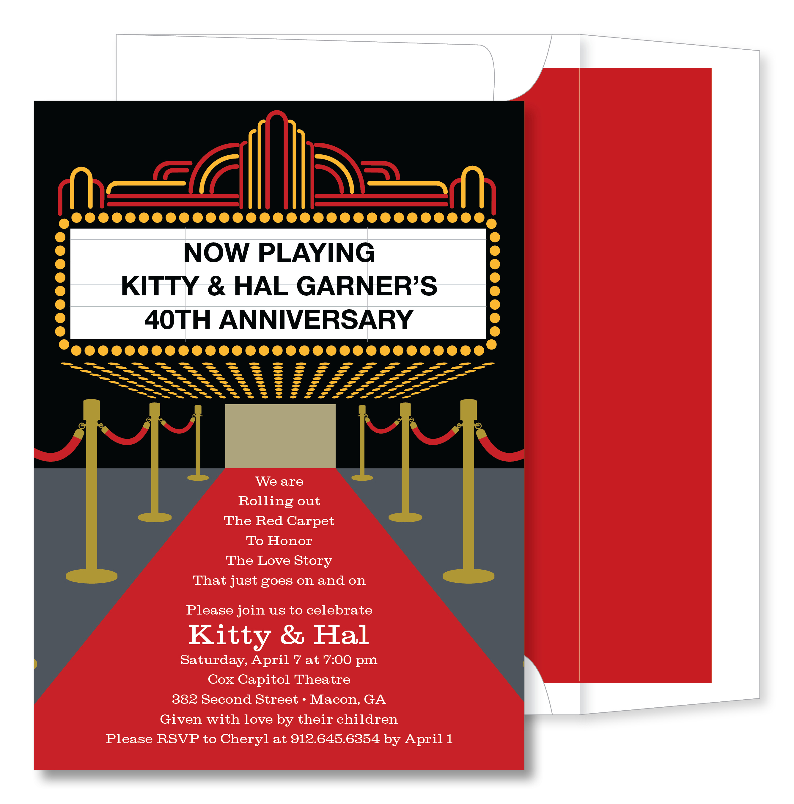 Quick View NOT ID 1122 Red Carpet Invitation