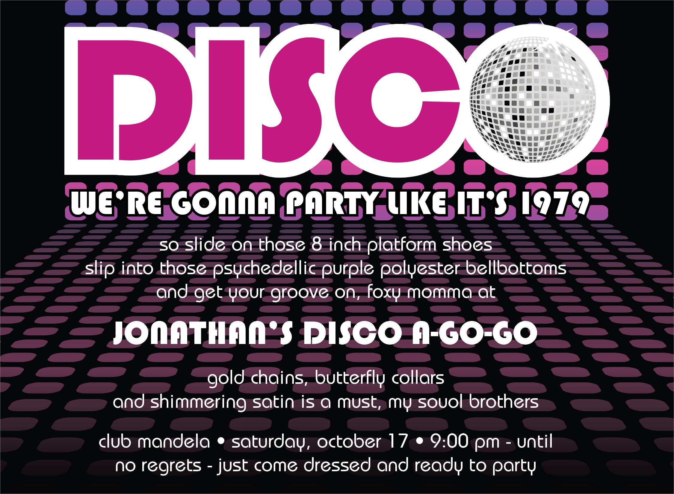 Quick View ID 1136 Disco Ball Invitation