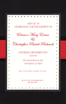 Business INVITATIONS General Occasion Formal Black And Red