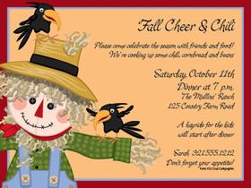 fall festival invitation wording