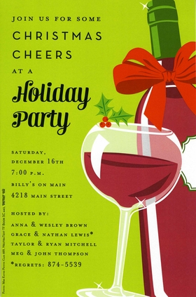 Holiday Amp Seasonal CHRISTMAS Invitations Cocktail Food
