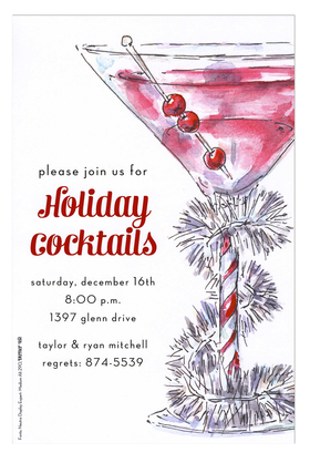 Holiday Amp Seasonal CHRISTMAS Invitations Cocktail Food