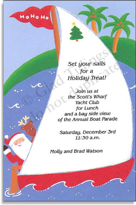 Holiday Amp Seasonal CHRISTMAS Invitations Nautical
