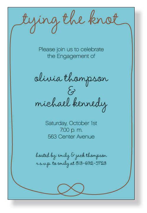Tail Party Invitation Wording