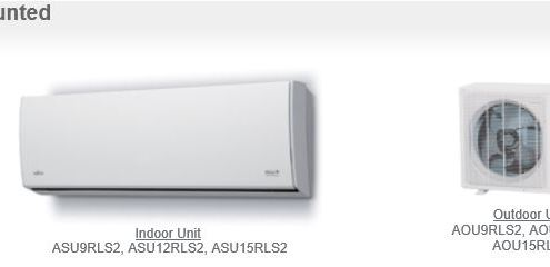Wall Mounted 9 - 15,000 BTU Hi SEER - Fujitsu Ductless Mini-Splits