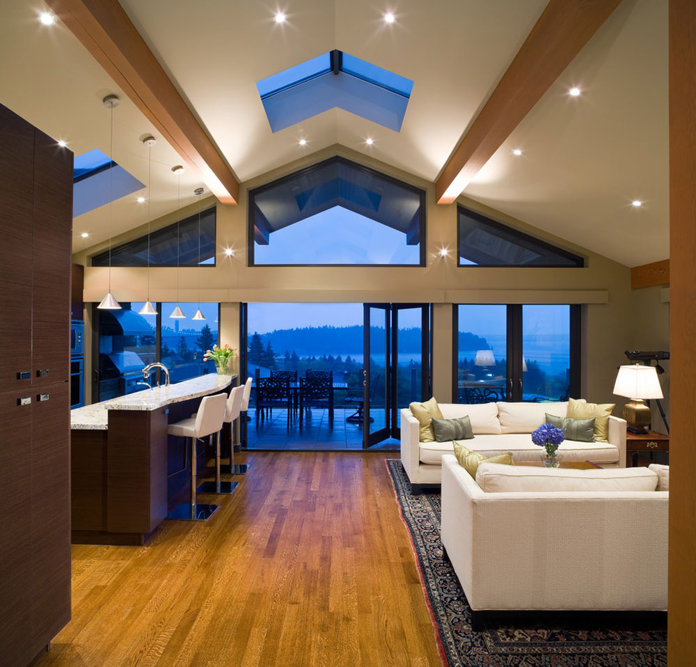 vaulted ceiling living room design ideas
