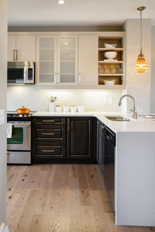 Best Kitchen Gallery: Two Tone Kitchen Cabi S A Concept Still In Trend of Two Tone Kitchen Cabinets on rachelxblog.com