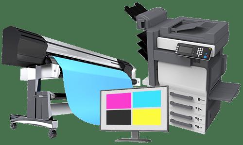 texte print et loupe d imprimeur