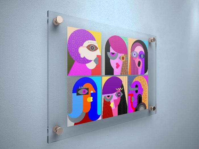 tableau verre acrylique impression