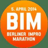 Logo des Berliner Impro Marathons 2014