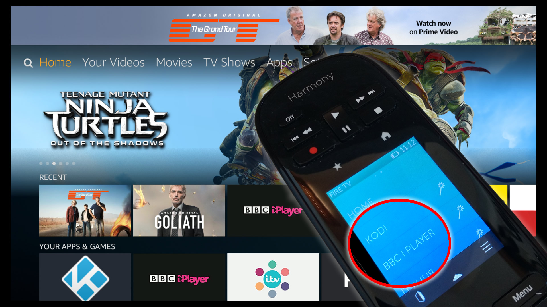 How to launch apps on Fire TV with Harmony Remote - Improdia