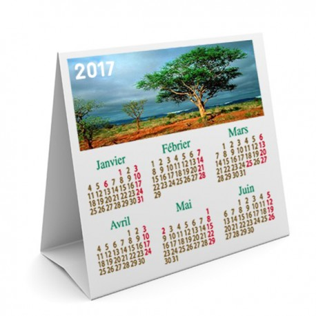 calendrier de table triangulaire 15 x 15 cm